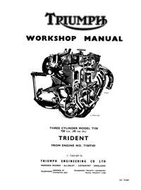 Triumph Trident T150 Workshop manual