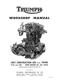 1963-1970 Triumph unit 650cc Workshop manual
