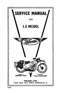 Velocette L.E.Mark I service manual