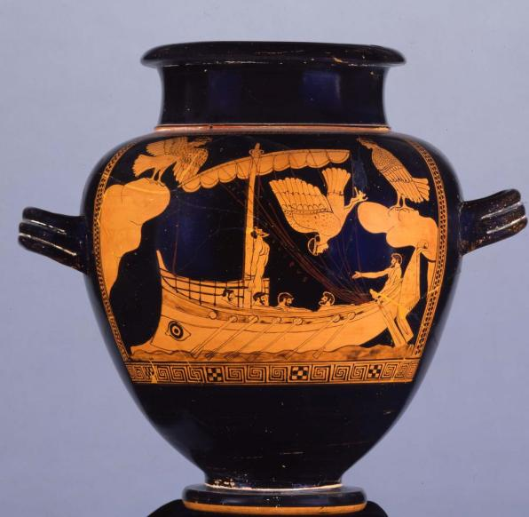 Image result for odysseus and the sirens vase