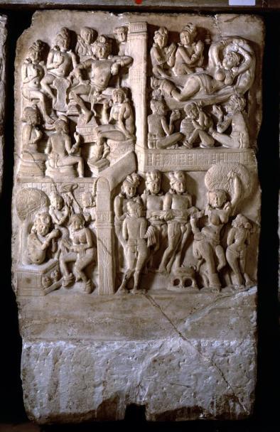 Amaravati drum slab (Birth scenes) (1880.7-9.44; Knox 61)