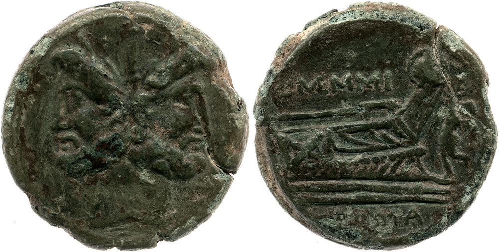 Copper alloy coin.