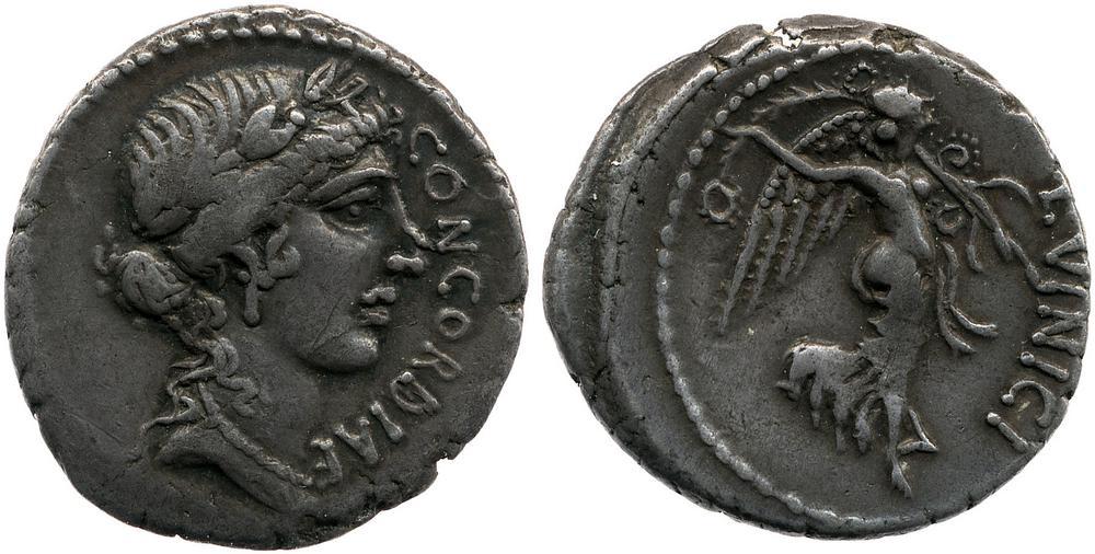Silver coin.