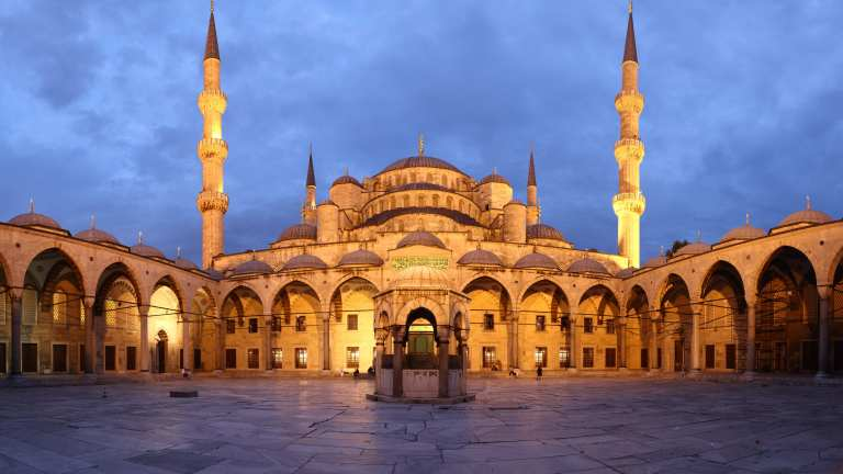 The history of the Blue mosque in Turkey