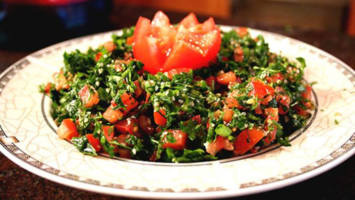 A Levantine dish called Tabbouleh