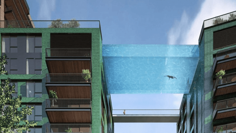 Luxury skyscrapers next to new US Embassy come complete with their own sky pool?