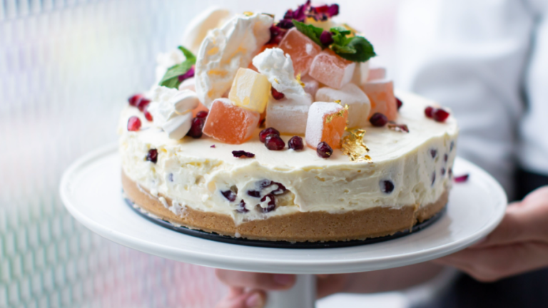 Turkish Delight Cheesecake by Shelina Permalloo