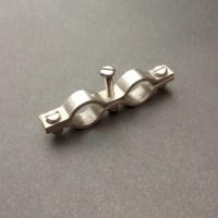 Stainless Steel Double Pipe Clamp Bracket 15mm Diameter