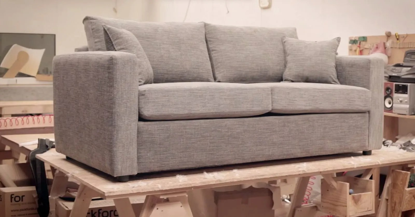 sofa and bed factory tufted navy blue velvet inside the south downs