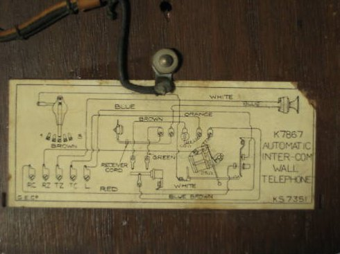 home telephone wiring diagram push to talk switch gec k7867