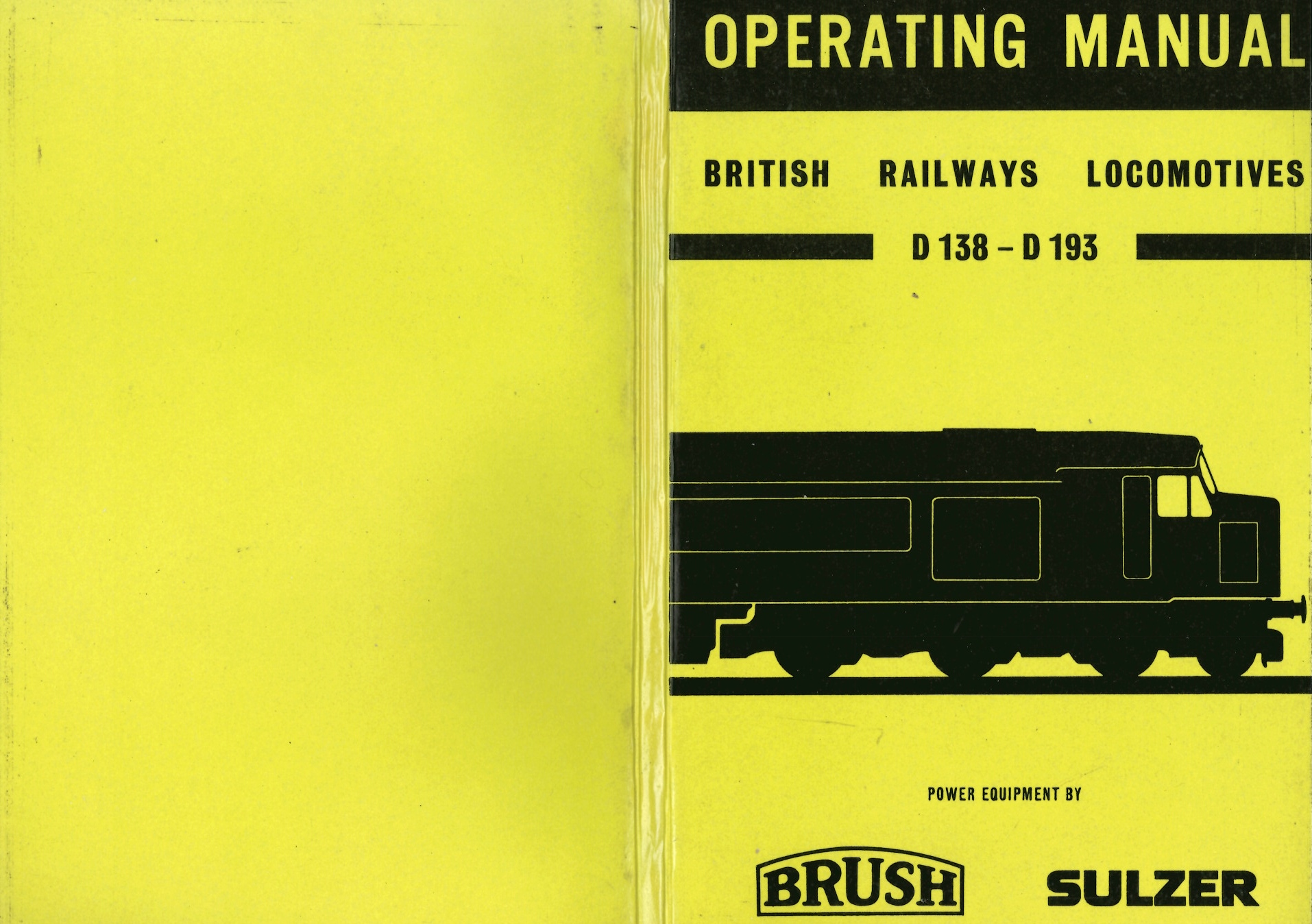 hight resolution of operation manual british railways locomotives d138 d193 brush electrical engineering