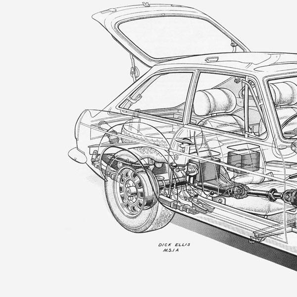 Mgb Engine Cutaway, Mgb, Free Engine Image For User Manual