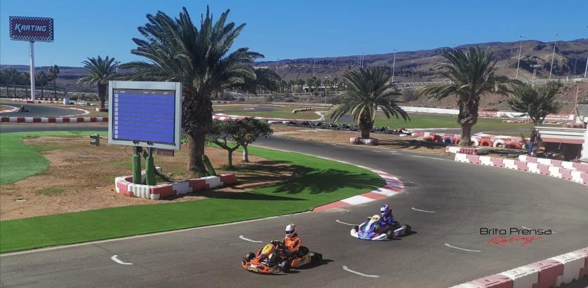 Adonay, Oscar , Amir copan los tres puestos del Campeonato Provincial de Las Palmas de Karting
