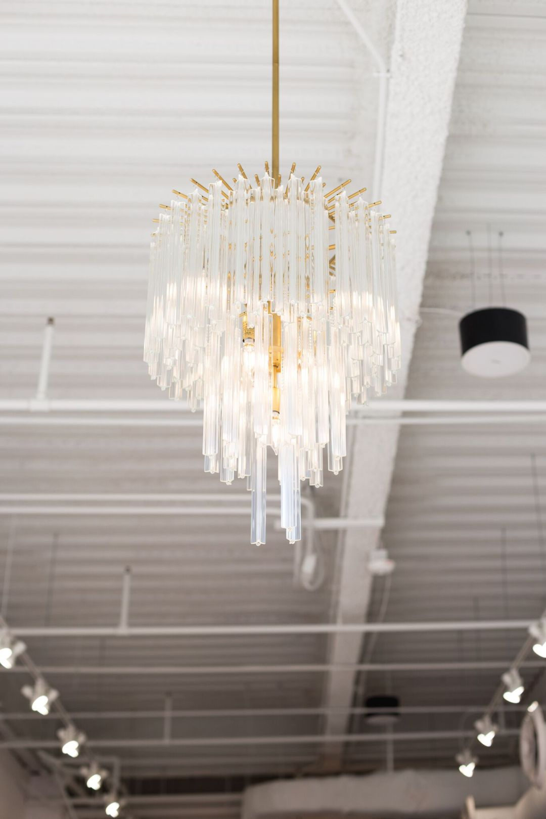BE Gold accent chandelier