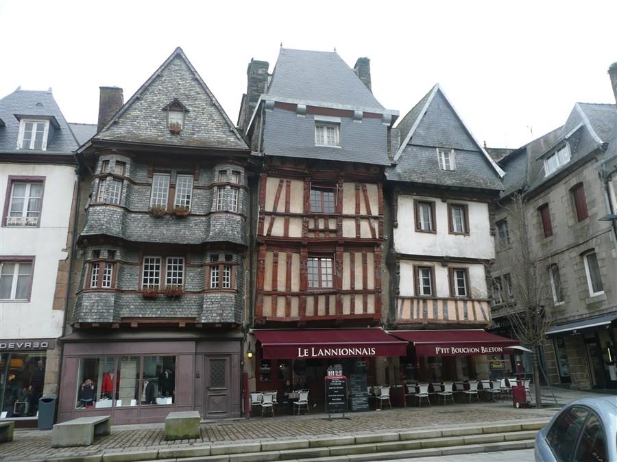 Beautiful buildings in Lannion
