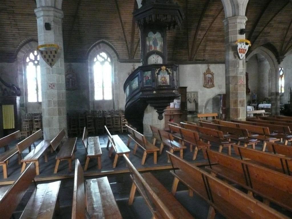 View inside Paroisse Notre Dame de Plouaret Brittany