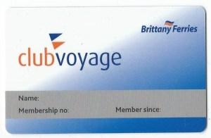 Club Voyage card