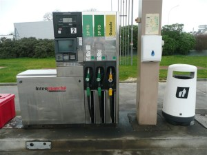 French filling station in Brittany
