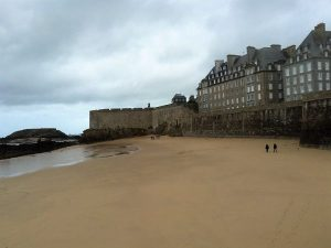 Buildings by saint-Malo beach