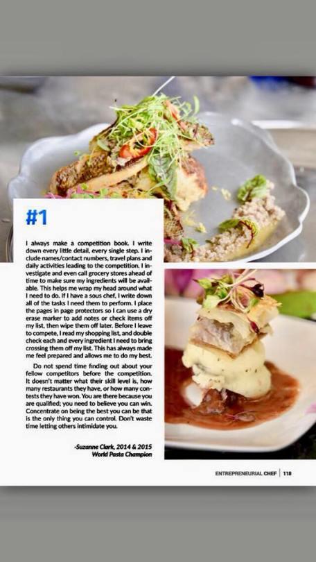 Coq Au Jam, Featured in Entrepreneurial Chef Magazine