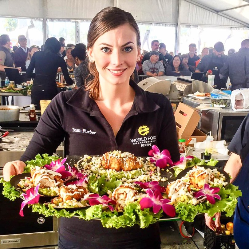 Brittany Furbee at the 2017 World Food Championships