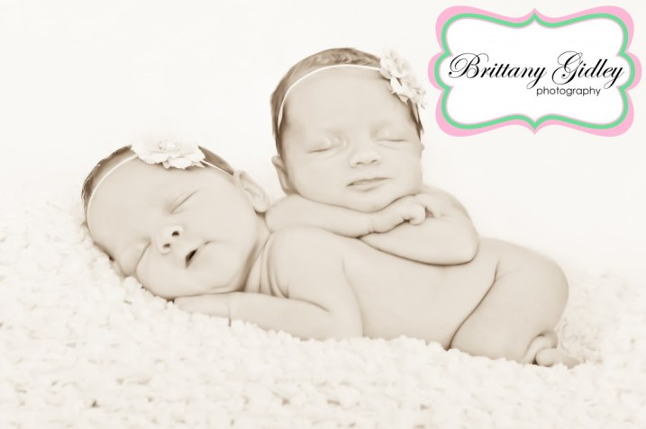 Cleveland Newborn Twin Photographer | Brittany Gidley Photography LLC