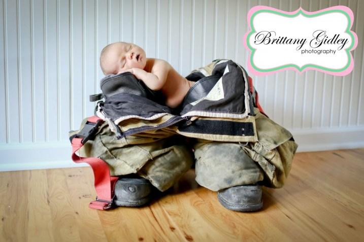 Newborn Fireman | Brittany Gidley Photography LLC