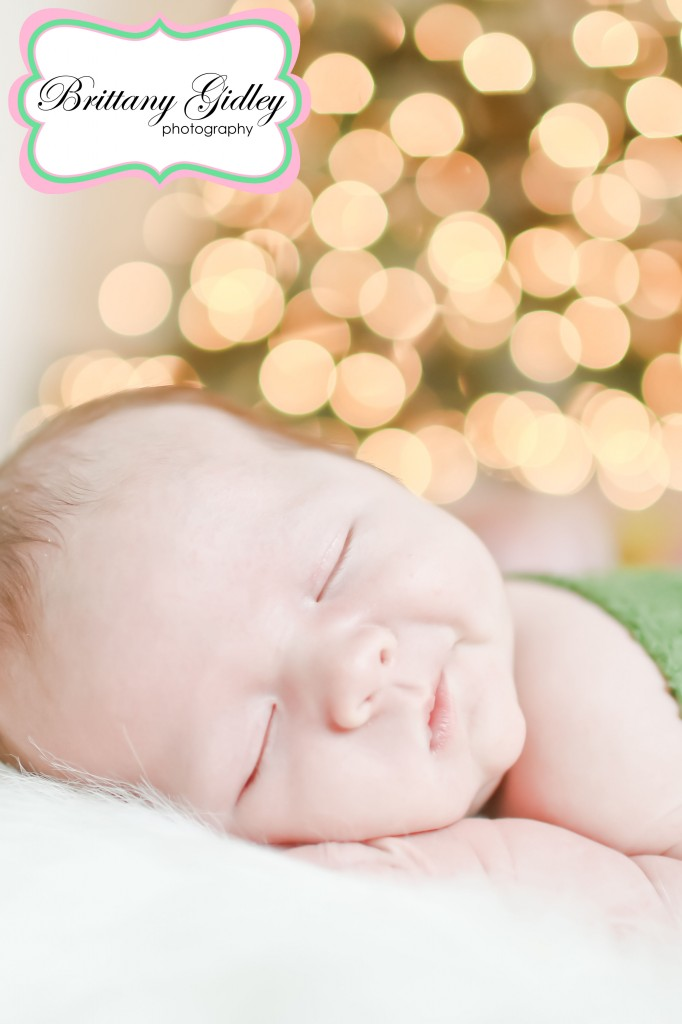 One Month Baby Photography | Brittany Gidley Photography LLC