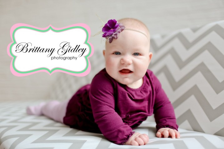 6 Month Baby | Baby Photography Studios | Brittany Gidley Photography LLC
