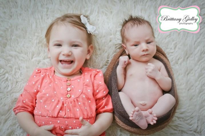 Big Sister with Newborn | Brittany Gidley Photography LLC