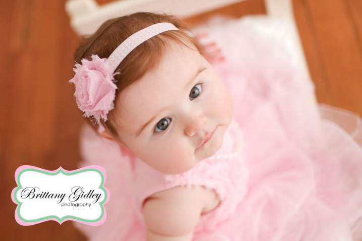 6 Month Old Baby | Baby Bed | Brittany Gidley Photography LLC