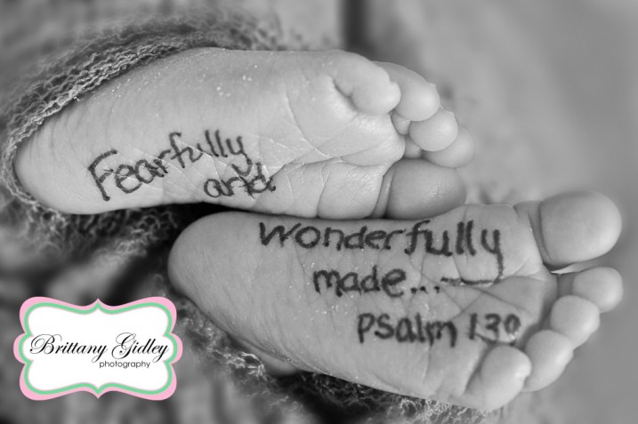 Newborn Baby Bible Quote | Brittany Gidley Photography LLC