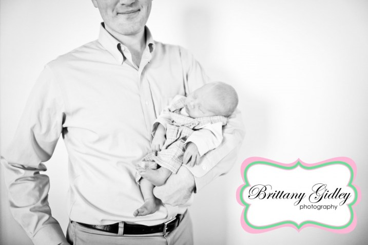 Newborn Baby And Dad | Brittany Gidley Photography LLC