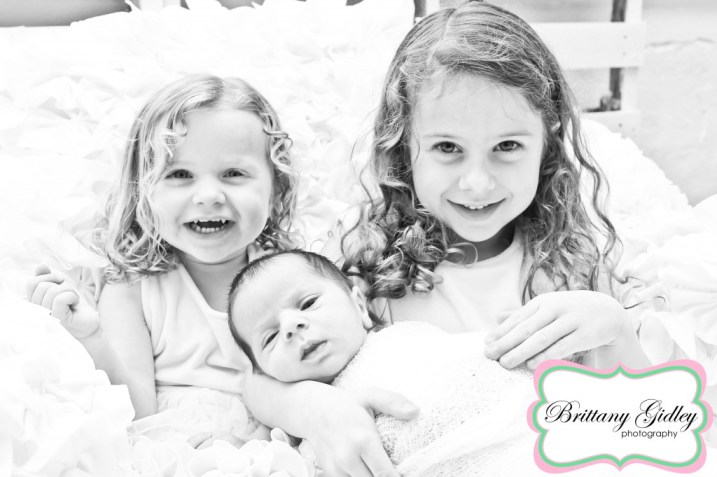 Newborn Boy & Big Sisters | Cleveland Photographer | Brittany Gidley Photography LLC