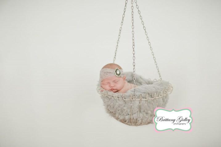 Newborn Baby Hanging Shot | Photography Pose | Brittany Gidley Photography LLC