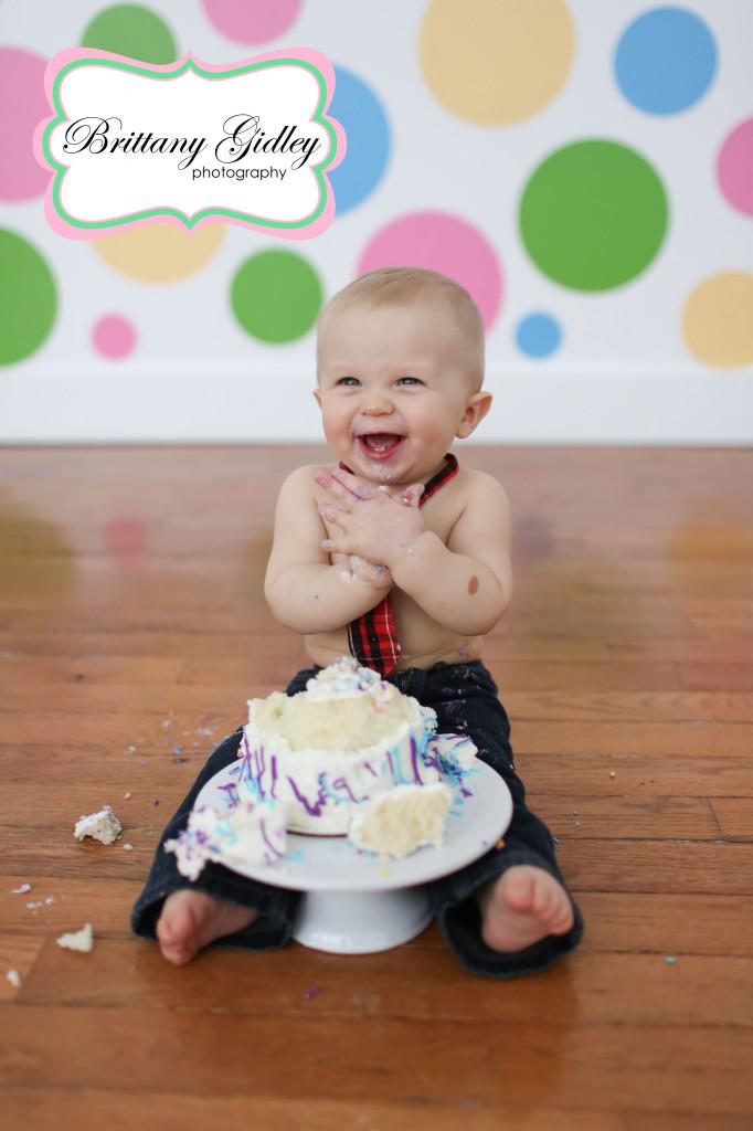 Cake Smash | Brittany Gidley Photography LLC