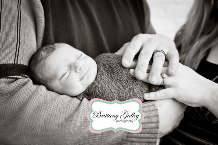 Baby Boy and Parents Pose | Brittany Gidley Photography LLC