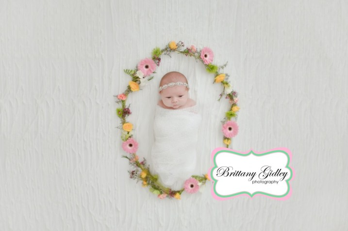Newborn Baby | Flowers | Photography Pose | Brittany Gidley Photography LLC