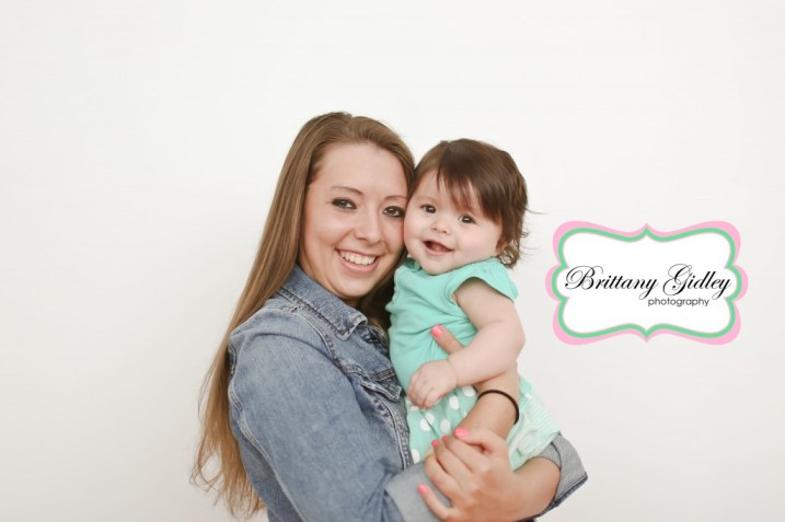 Baby and Mom Pose | Brittany Gidley Photography LLC