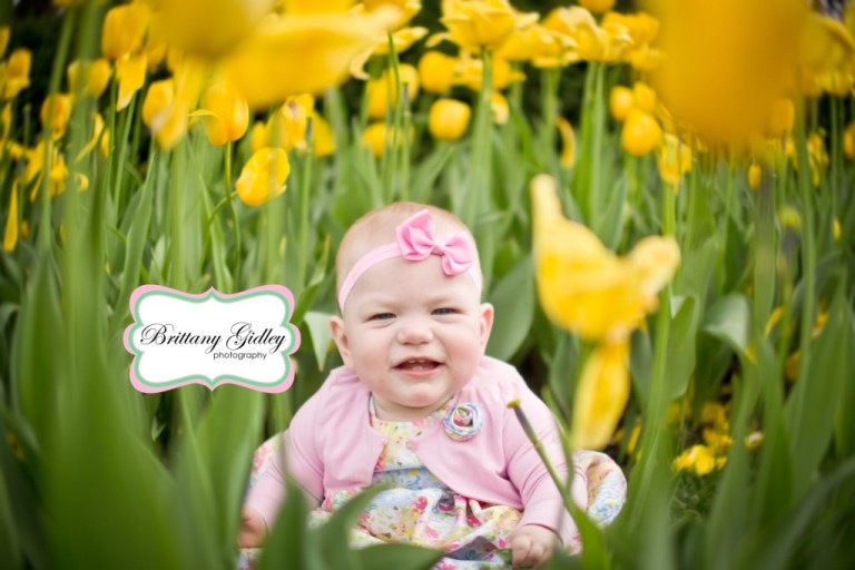 Baby in tulips | Brittany Gidley Photography LLC