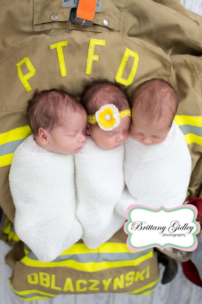Triplet Photography | Newborn Triplets | Newborn Triplet Photography | Newborn Triplet Photographer | Brittany Gidley Photography LLC
