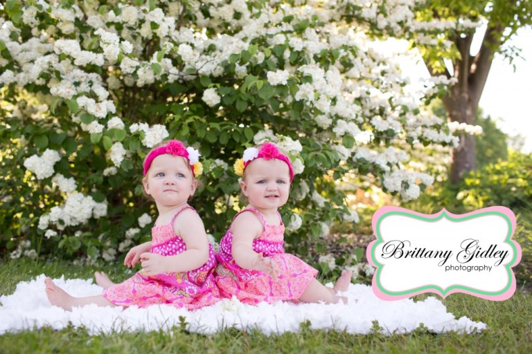 12 Month Twins | Brittany Gidley Photography LLC