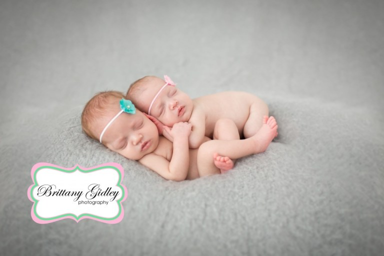 Gray | Backdrop | Details | Twins | Newborns | Brittany Gidley Photography LLC
