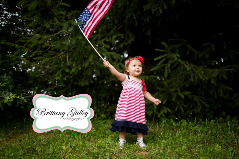 Cleveland Toddler Photography | 18 Months | American Flag | Fourth of July | Brittany Gidley Photography LLC
