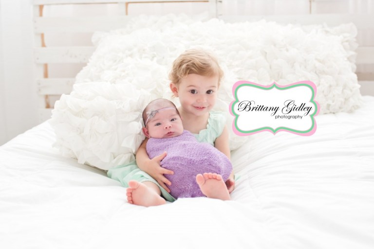 Newborn Baby with Sibling | Best Baby Photographer | Brittany Gidley Photography LLC