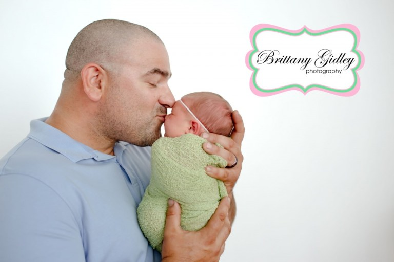 Dad with Newborn | Best Newborn Photographers | Start With The Best | Brittany Gidley Photography LLC