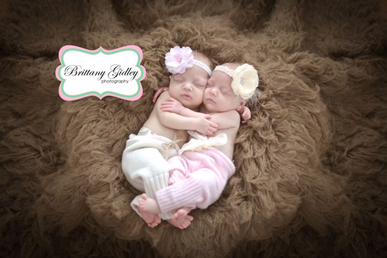 Details | Twins | Newborns | Flokati | Brown Pink Cream | Brittany Gidley Photography LLC
