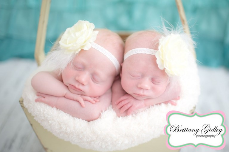 Twin Newborn Session | Twins | Twin Posing | Brittany Gidley Photography LLC