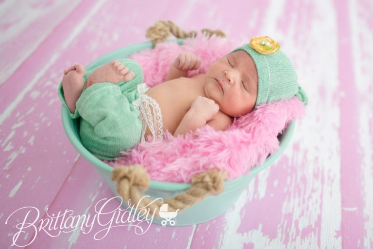 Newborn Photoshoot | Newborn | Girl | Baby Girl |Pink | Teal | Brittany Gidley Photography LLC