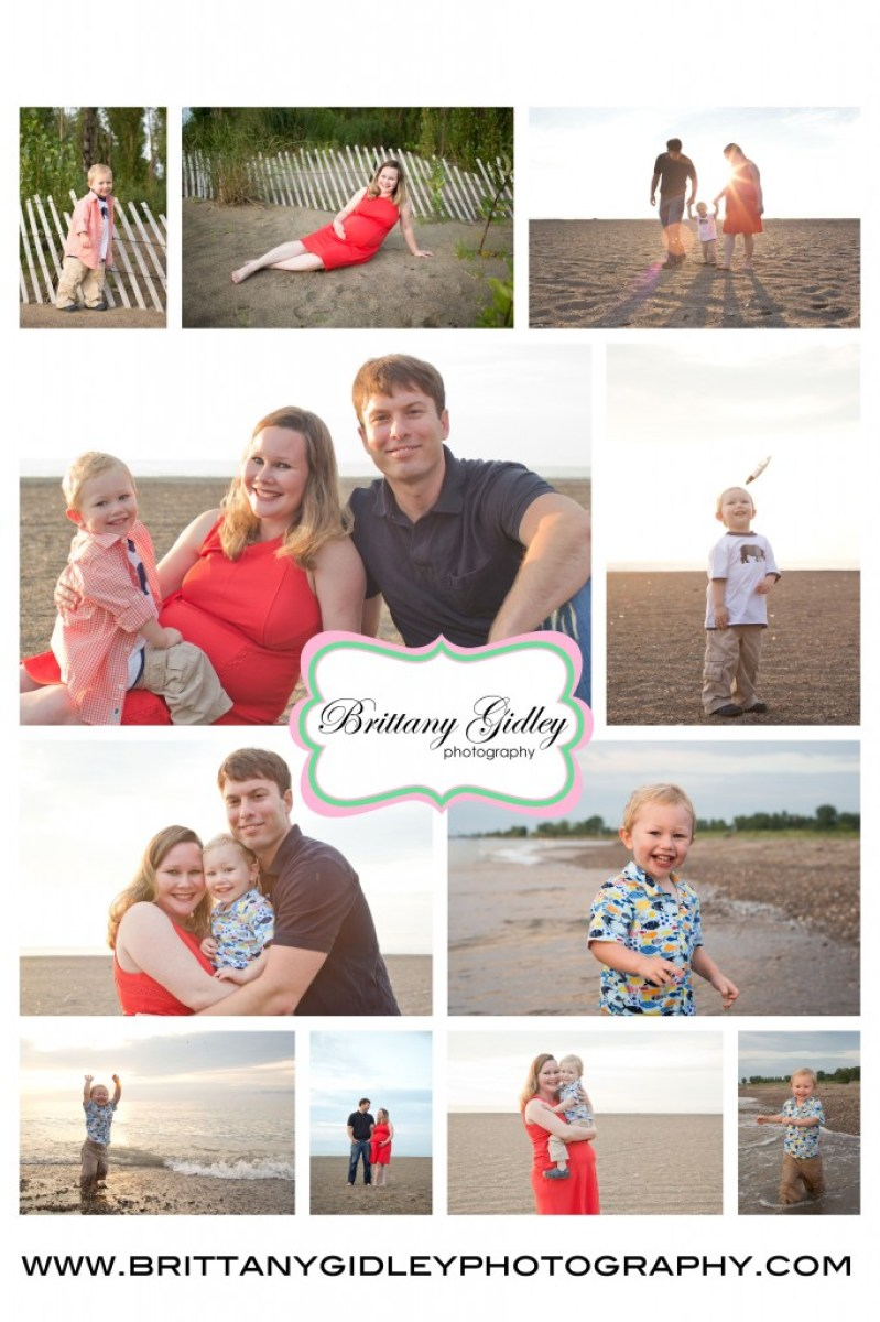 Beach Maternity | Sun Flare | Family | 2 Year Old | Headlands | Orange and Blue| Beach | Brittany Gidley Photography LLC